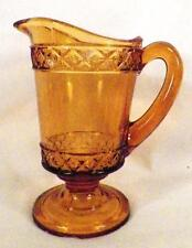 Amber Spirea Band Creamer Early American Pattern Glass Bryce Walker & Co As Is