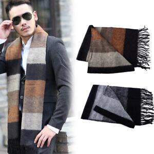 "71"" Men Winter Warm Classic Scarf Pashmina Striped Acrylic Fibers Shawls Scarves"
