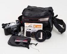 Vintage Asahi Pentax K1000 35mm Film Camera & 55mm f/2 Lens + Tamrac Bag #8002