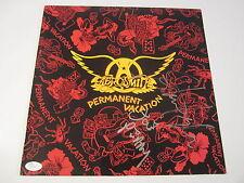 Steven Tyler / Joe Perry Aerosmith Signed Autographed Record Cover Jsa Coa