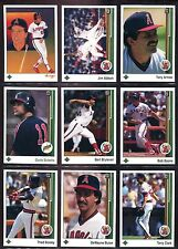 1989 Upper Deck California Angels Team Set (29 cards) *Joyner/Abbott*