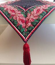 Vera Bradley Noel '93 Christmas Candy Cane Holly Cotton Table Runner Retired USA
