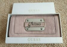 Brand New in Box Guess By Marciano Dusty Pink Wallet with Silver Logo Plaque