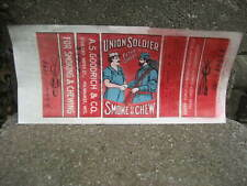Vintage Union Soldier Smoking Chewing Tobacco Packaging Wrapper