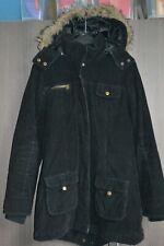 Manteau/veste/parka noir (capuche amovible) - taille 38