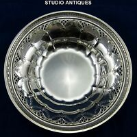 TOWLE STERLING SILVER Vintage NORMANDY BOWL #623 Pierced Lattice FLORAL SWAG 90g
