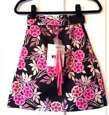 NWT MSGM $420 Hammered Satin Mini Pink Floral Skirt 38 XS Totokaelo