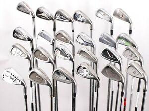 Lot of 24 Golf Single Irons PXG Mizuno Cobra Hogan TaylorMade Callaway Wilson RH