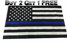Blue Lives Matter Police Usa American Thin Blue Line 3x5 Flag Officers 3' x 5'