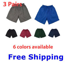 3 Pairs Boys Girls Kids Sports Wear School Cargo Shorts Short Pants Uniforms Sz