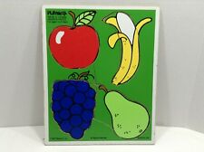Playskool 180-06 Favorite Fruits 4 Piece Wooden Jig Saw Puzzle 1985