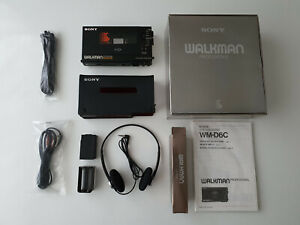 SONY WALKMAN PERSONAL CASSETTE PLAYER / RECORDER WM-D6C PROFESSIONAL + MDR-51