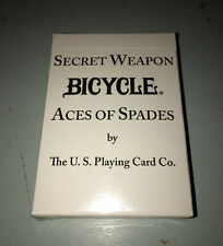 Bicycle 808 Secret Weapon ACES OF SPADES  Playing Cards Unopened Deck Limited Ed