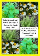 100ml ORGANIC NETTLE, Rosemary & Chamomile hair Loss Herbal BLOCK DHT natural
