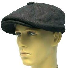 Peaky Blinders Hat Newsboy Gatsby Cap Dark Grey Flat Baker Boy Bakerboy 40% Wool