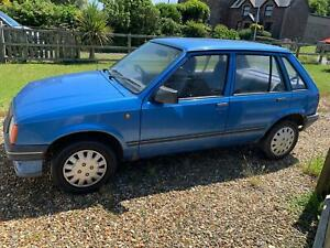 vauxhall nova L 1.3 1989 5 door hatchback blue, 1 lady owner, petrol