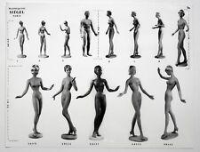 PHOTO MANNEQUIN FEMME SIÉGEL NOVITA Surréalisme Surréaliste Corps Nu 1950 Pub