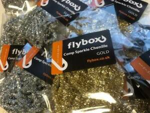 Flybox ® Comp Sparkle Chenille  ** NEW 2021 Stocks ** Ideal For The Humungus Fly