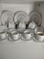 Vintage 22 pc American Tapestry Dish Set Cups Saucers Dinner Plates Cereal Bowls