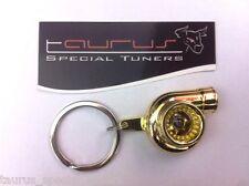Portachiavi Turbo ORO Cromato Turbina Turbocompressore portachiave Racing Gold S