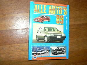 1989 ALLE AUTO'S ALK BOOK ALL CAR MODELS DUTCH MARKET TOYOTA,SUBARU,ALFA,MASERAT