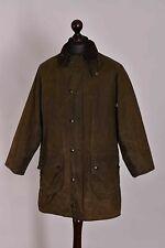 Men's Barbour Gamefair Green Waxed Jacket Size C38 / 97cm Genuine Casual