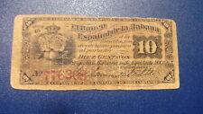 banco español La Habana 10 centavos 1883