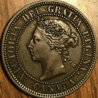 1884 CANADA LARGE CENT PENNY LARGE 1 CENT COIN - Excellent example!