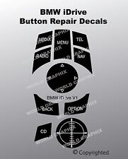 BMW iDrive Button Repair Decal Sticker Kit Fits 9231116 033625107 Buttons