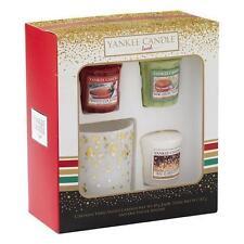Yankee Candle Holiday Party 3 Votives & 1 Votive Holder Gift Set -
