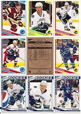 2013-14 OPC O-Pee-Chee Vancouver Canucks Complete Team Set (19)