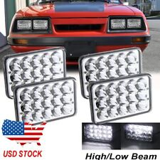 4pcs 4x6 Led Headlights Hilo Sealed Beam Bulb Fit For Ford Mustang 1979 1986 Fits Mustang
