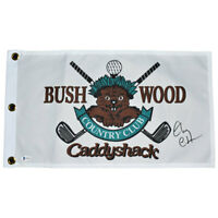 Chevy Chase Signed Caddyshack Golf Flag (Beckett)