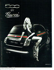 PUBLICITE ADVERTISING 066  2011   la Fiat 500 by Gucci & Kate Moss 2