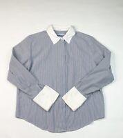 Pendelton Womens Hidden Buttons Button Up Blouse Shirt Sz 10P