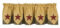 Window Curtain Point Valance - Country Star by Park Designs - Lined Black Gold