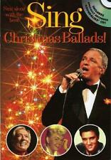 Sing Christmas Ballads w CD Sheet Music Songbook Melody Lyrics Chords Xmas Book