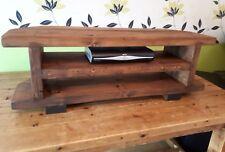 Corner Rustic Pine TV Unit solid wood stand/cabinet -medium oak wax finish