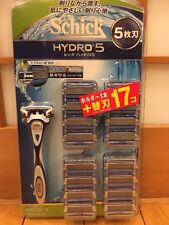 Schick Hydro 5 Holder + Blade 17pc for Shaver from Japan F/S New