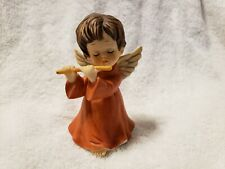 "Ceramic Angel Playing Flute 4.25"""