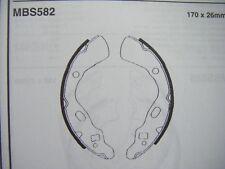 Kia pride 1.1/1.3 rear brake shoes (mbs582) (91 - 00)