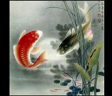 Koi Fish Painting Contemporary Art Modern Wall Art Décor Print On Canvas Framed