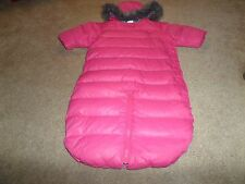 Toddler Girls Hanna Andersson Outdoor Down Snow Suit/Bunting Size 70 9-12 months