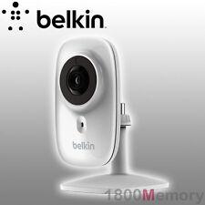 GENUINE Belkin WeMo NetCam HD+ Wi-Fi Camera with Night Vision 720p Mic IP Webcam