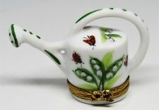 Limoges Box - Rochard - Watering Can - Lily Of The Valley Flowers & Ladybugs