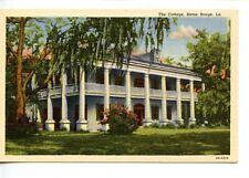 Historic 1824 Home The Cottage-Baton Rouge-Louisiana-Vintage Linen Postcard