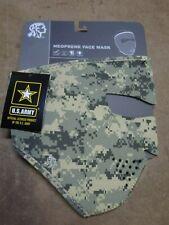 Zan HeadGear US ARMY Airborne Full Face Mask Neoprene ACU Camo Combat Digital OD