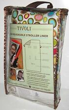 NEW TIVOLI COUTURE PLUSH REVERSIBLE STROLLER LINER Seat Cover Baby Toddler