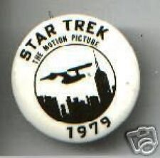 STAR TREK the MOTION PICTURE pinback 1979 promotional PIN
