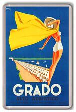 GRADO ALTO ADRIATICO VINTAGE FRIDGE MAGNET SOUVENIR